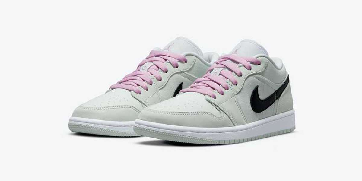 Refreshing pink embellishment! The new Air Jordan 1 Low SE CZ0776-300 is coming soon!