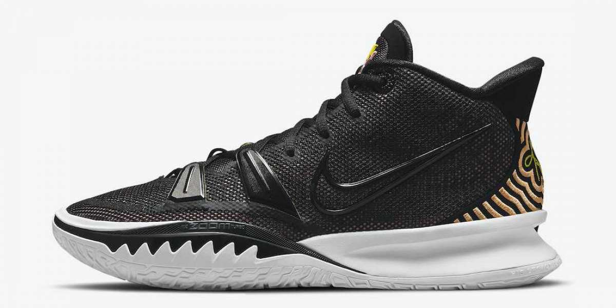 """Nike Kyrie 7 """"Ripple Effect"""" Black Pink Yellow 2021 New Arrival CQ9326-005"""
